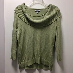 Light Green Cowl Neck Sweater